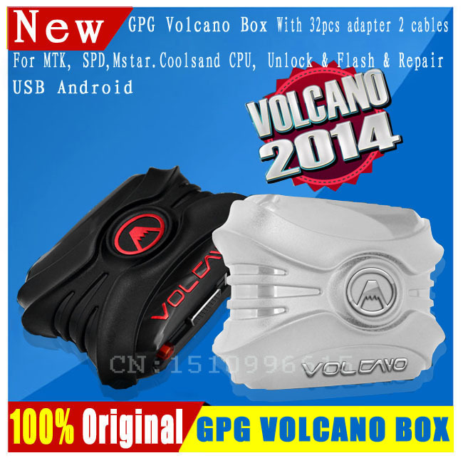 New Volcano Box with PACK1 For MTK Cpu,SPD CPU,Mstar Cpu,Coolsand Unlock Flash & Repair With 32pcs adapter 2 cables(China (Mainland))