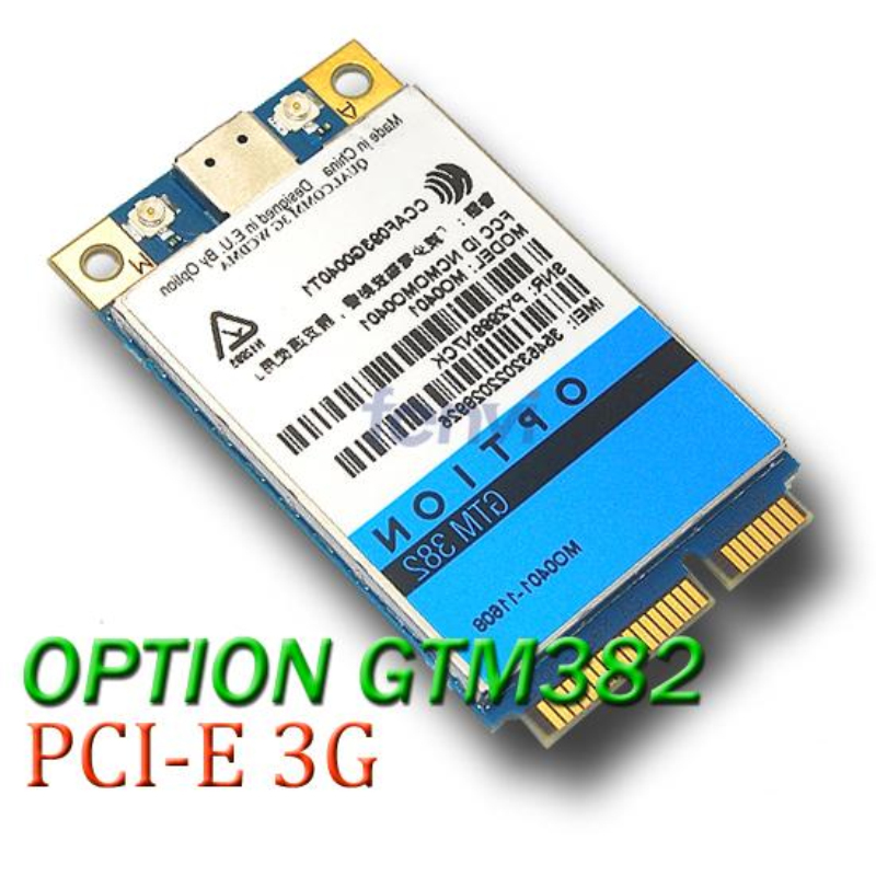 UNLOCKED Option GTM382 7.2Mbps Modem 3G WWAN Voice Module Wireless PCI-E Card Model MO0402 HSUPA HSDPA EDGE for Dell Asus Acer(China (Mainland))