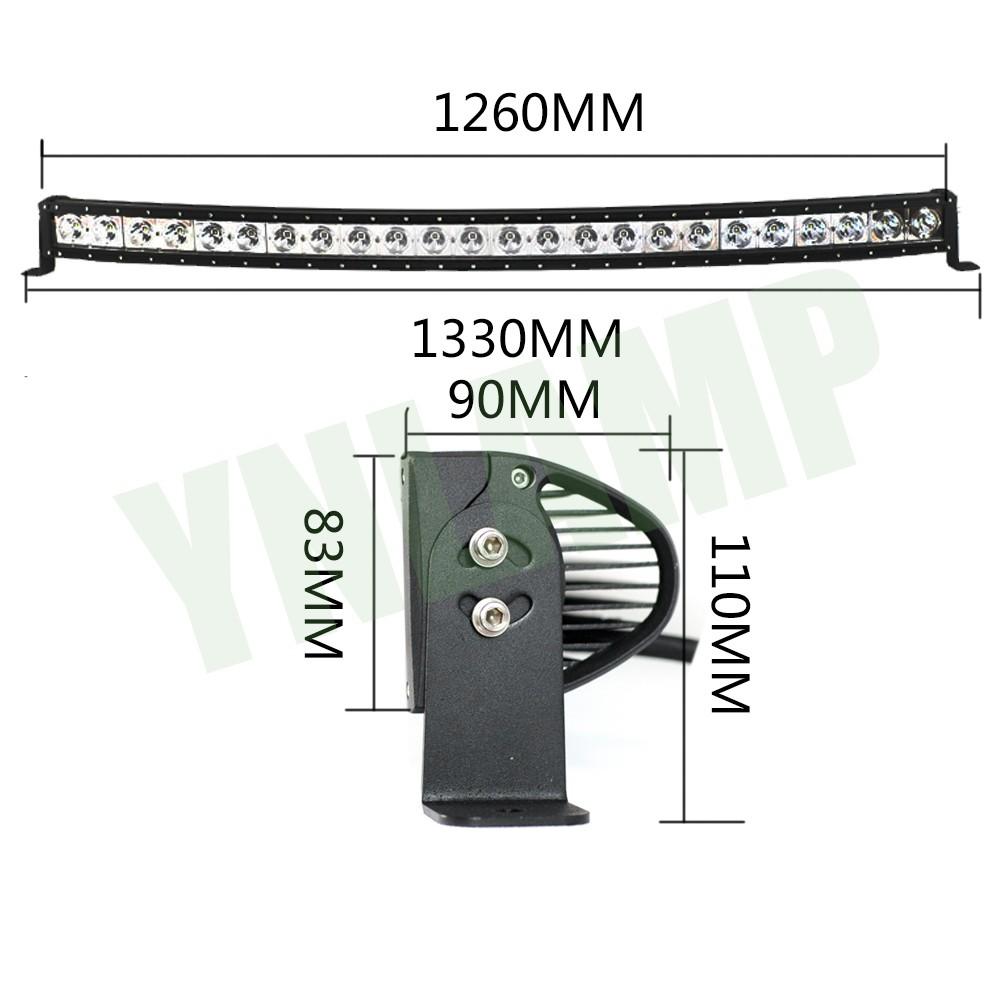 50inch 240W Curved Single Row LED Work Light Bar Spot Flood Combo Beam 10V-30V SUV ATV 4×4 Truck 4WD Offroad Light Bar