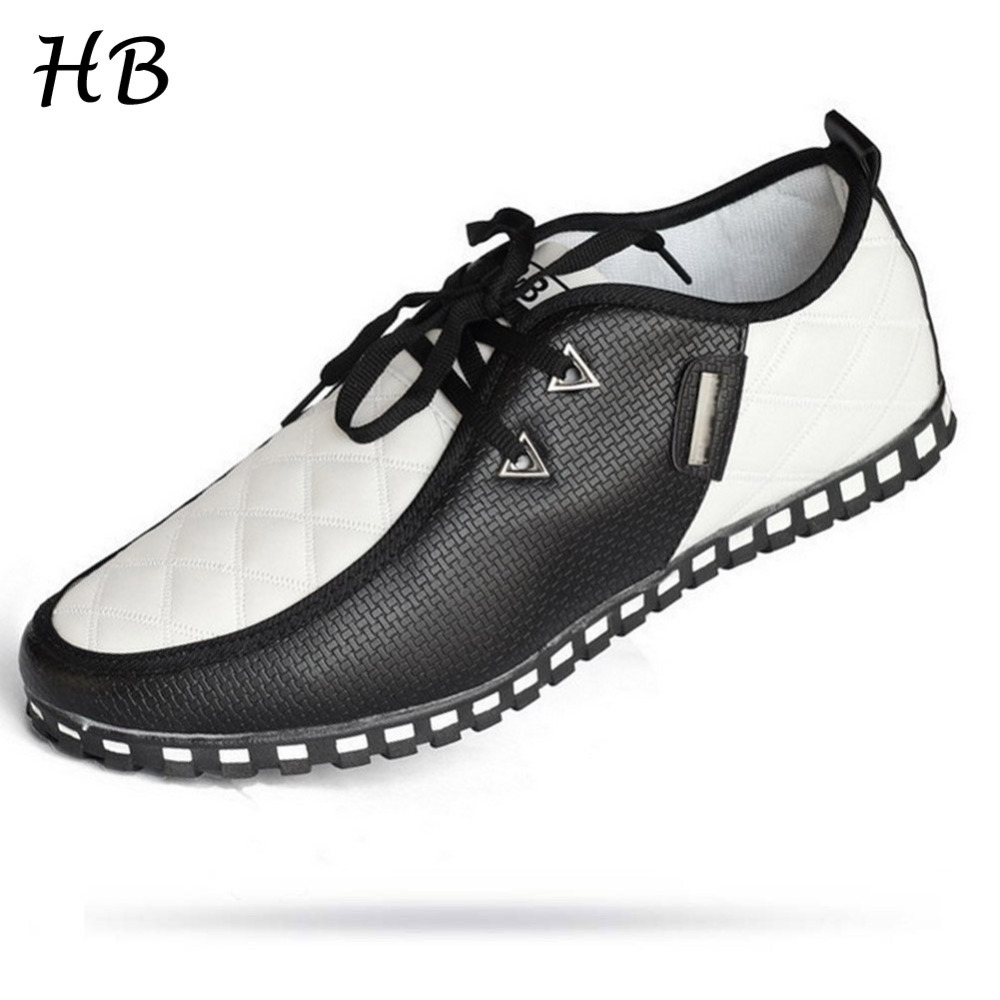 Promotion Spring  Autumn  Winter 2015 Fashion  Mens Casual Business Shoes Sneakers PU Waterproof Lace-up Flat Shoes Large Size<br><br>Aliexpress