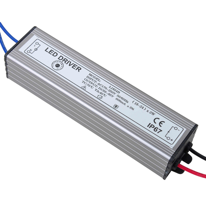 54-72W LED Driver Power Supply Waterproof IP67 Constant Current AC100-260v 600mA For 54-72W LED Bulb(China (Mainland))