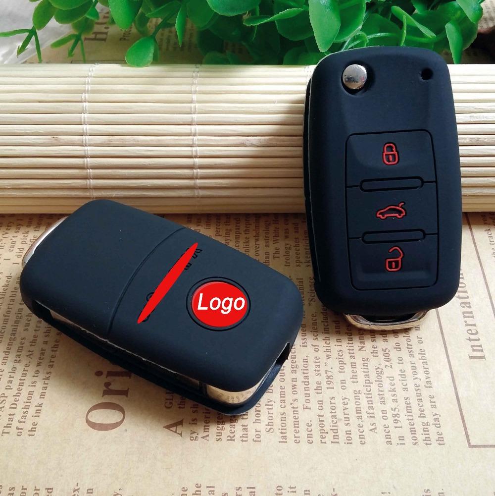 silicone car key cover case for VW Volkswagen polo passat b5 golf 4 5 6 jetta mk6 tiguan Gol CrossFox Plus Eos Scirocco Beetle(China (Mainland))