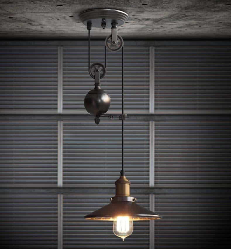 kitchen rise fall pulley pendant lights edison pendant. Black Bedroom Furniture Sets. Home Design Ideas