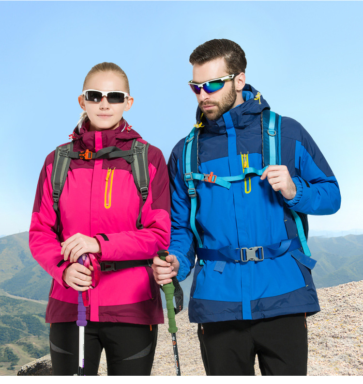 New Product Outdoor Sports Couple Hiking Jackets Diy Custom Made Colorful Clothes Antifouling 4 Seasons For Avaliable Keep Warm(China (Mainland))