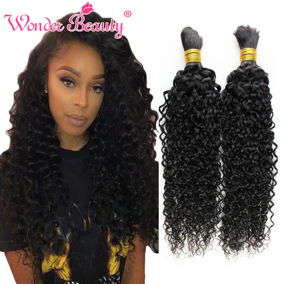 Crochet Kinky Curly Hair : Hair Extension Type: No Attachment(Bulk Hair) ; Material: Human Hair ...