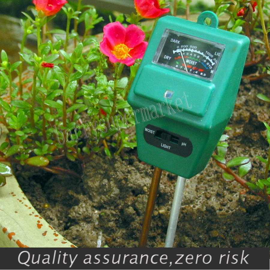 New 3 in 1 tester humidity meter ph meter battery soil moisture meter(China (Mainland))
