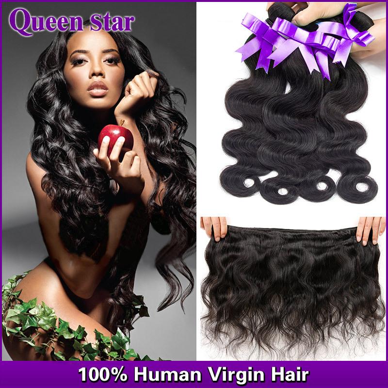 Queen star Hair Malaysian Virgin Hair 4 Bundles 100% Human Hair weave Malaysian Body Wave 6A Unprocessed Malaysian Virgin Hair(China (Mainland))
