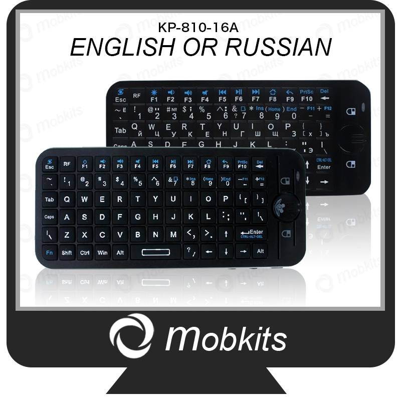 Original Keyboard iPazzPort KP-810-16 A English Russian Version for Android TV Box 2.4GHz Air Mouse for Android Tablet TV Stick