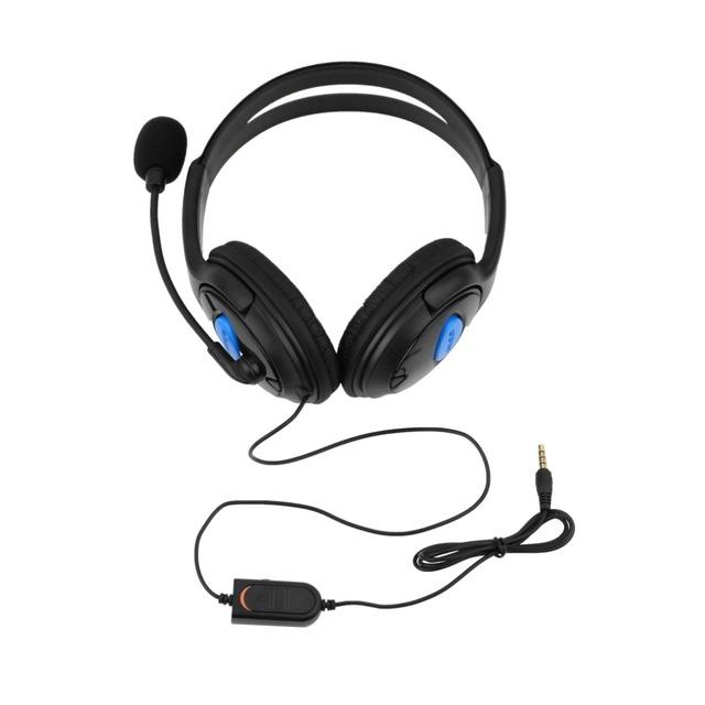 Gaming проводная Гарнитура Наушники Наушники с Микрофоном Микрофон Стерео Ужин Бас для Sony PS4 для PlayStation 4 Геймеров Оптовая