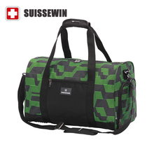 Suissewin Camouflage Men's Travel Bag Fashion Swiss Army Green Handbag Male Big Shoulder Duffel Bag Business travel SN5017(China (Mainland))