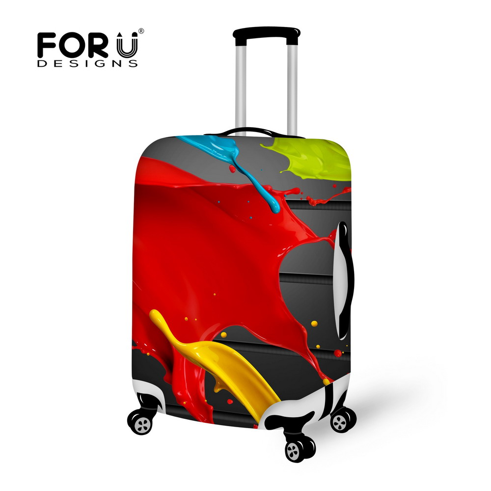 2016 Design Style Cover for Suitcase Bags Travel Luggage Accessories for Men's Women Waterproof Protection Suitcase Case Cover(China (Mainland))