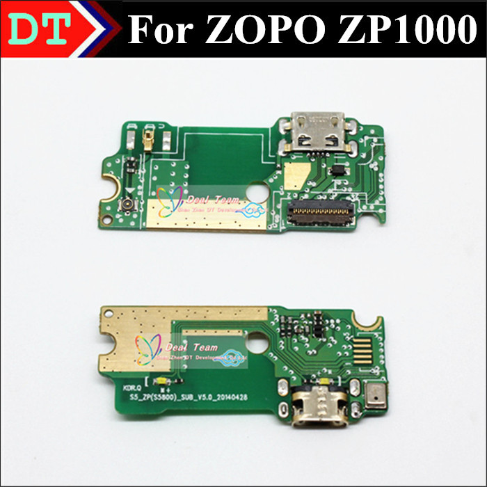 New Mirco USB Plug Charge Board connector with Microphone For ZOPO ZP1000 8510 Smart Cell phone Free Shipping