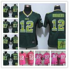 Signature 2016 Women Ladies Green Bay Packers,Aaron Rodgers,eddie lacy,Randall Cobb,Ha Clinton-Dix,Clay Matthews,camouflage(China (Mainland))