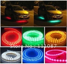 red neon car lights promotion