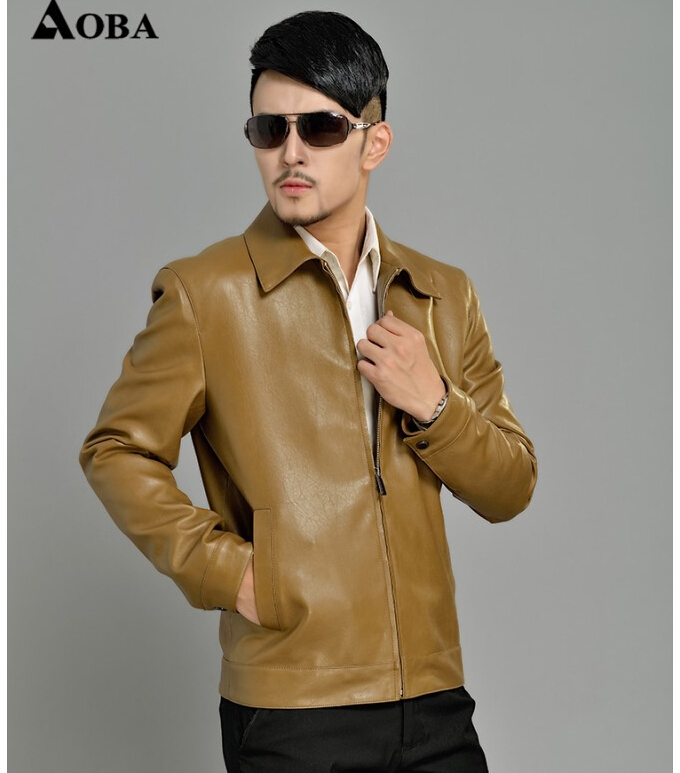 Hai Ning leather jacket coat 2014 men big size Casual jackets coat mens motorcycle leather jacket coat men coat M-XXXXLОдежда и ак�е��уары<br><br><br>Aliexpress