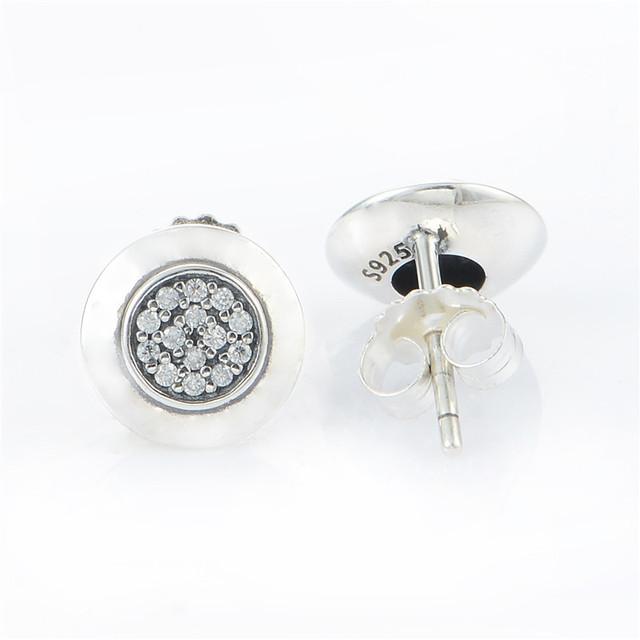 925-sterling-silver CZ камни марка подпись серьги для женщин DIY Jewerly женщины рождественский подарок 925 мода серьги