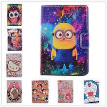 Newest Despicable Me Minions kitty Cartoon PU Leather Stand Cover Case For Apple iPad Mini 4 Tablet Cases For Kids