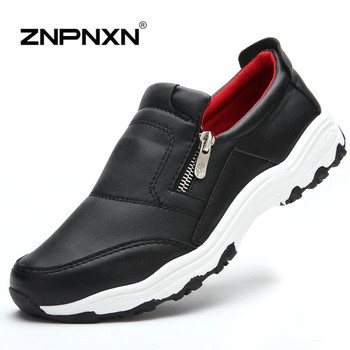 New 2016 Men Casual Shoes Spring PU Leather Shoes Men Flats Black Slip On Flats Shoes For Men Loafers Zapatos Hombre ZNPNXN