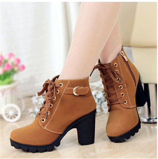 Luxury Plus Size Leather Martin Boots Fashion Ankle Boots Sexy