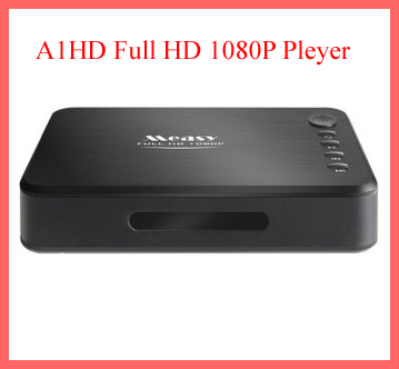 Mini FULL 1080P HD MKV H.264 RM RMVB USB HDMI MMC DivX MP4 SDHC USB HDMI MMC A1HD Network Media Video advertising Player(China (Mainland))