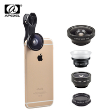 Buy Apexel Mobile Phone Universal 5 1 Lenses Fish Eye Wide Angle Macro CPL Lens Camera Kit iPhone 7 6 Plus XIAOMI Huawei SJ5 for $13.33 in AliExpress store