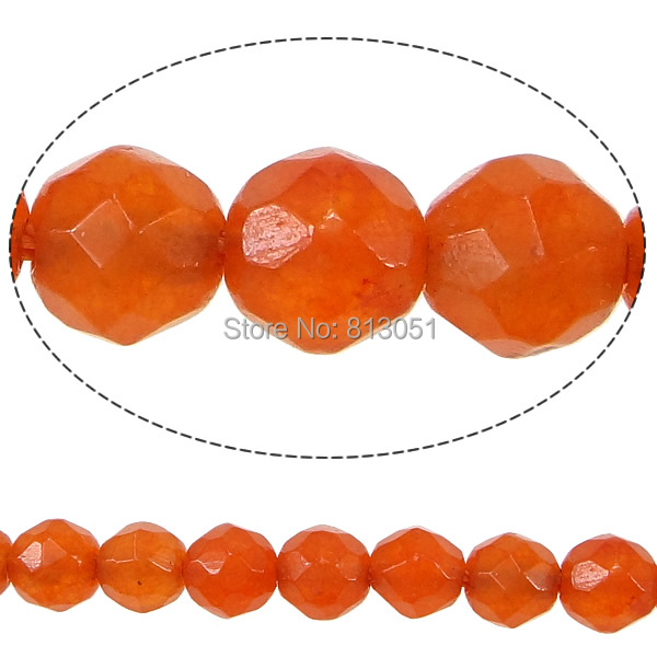Free shipping!!!Marble Beads,Gift, Dyed Marble, Round, faceted, orange, 4.50mm, Hole:Approx 0.5mm, Length:Approx 15 Inch<br><br>Aliexpress