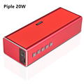 Big Metal 20W Bluetooth Subwoofer Speaker Power Bank Portable Mini Powerful Computer USB Wireless Speaker 10w