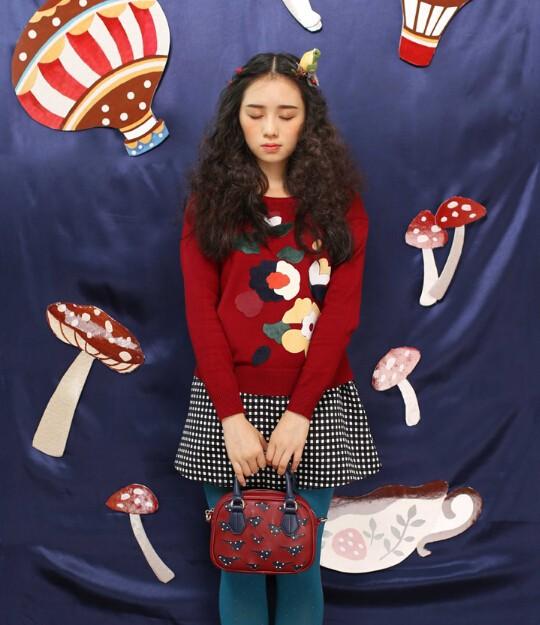 Cartoon 2015 Hollow Out Mori Girl Dot Flap Women Mini Bird Bags Leather PU Women's Handbags Shoulder Messenger Crossbody Bags