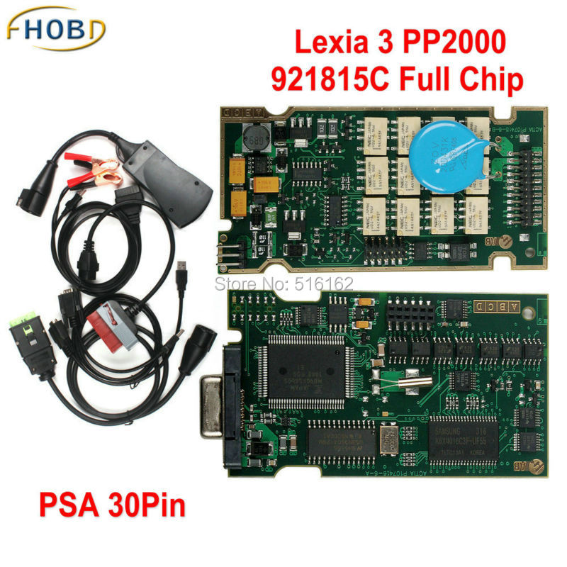 921815C C Firmware Full Chip Diagbox V7.83 for Citroen for Peugeot Lexia3 Lexia 3 V48 PP2000 V25 with Psa30 Cable Full Set(China (Mainland))
