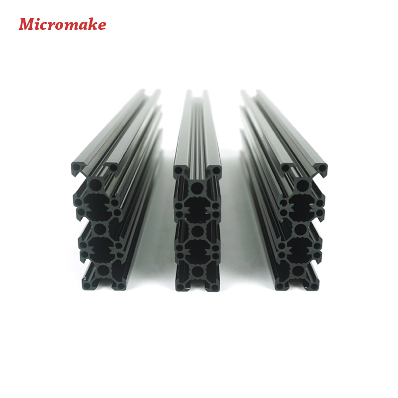 Micromake 3D Printer Parts V-slot Rail Aluminum Profile Extrusion 2020 12pcs/lot Cutted CNC Machine Building Part Holder(China (Mainland))