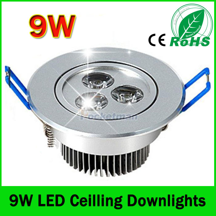 Led Downlights (1pcs/lot) 9w led downlight Aluminum material 85-265v light For Home Lighting Decoration Drop shipping ZK90(China (Mainland))