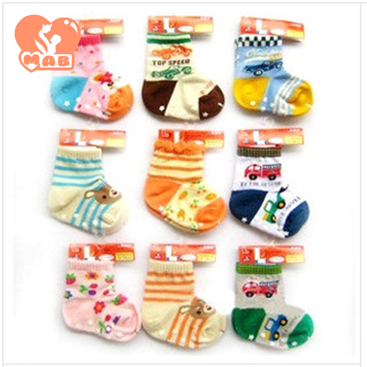 (10 color socks new L) Nissen baby Anti-skid off fall and winter socks cute baby socks(China (Mainland))