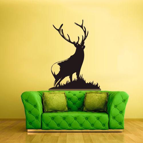 Wall Vinyl Sticker Bedroom Decal Deer Elk Buck free shipping(China (Mainland))