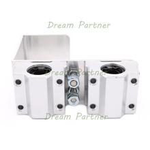 Free Shipping ! 1 set 3D printer U aluminum block+box type linear bearings