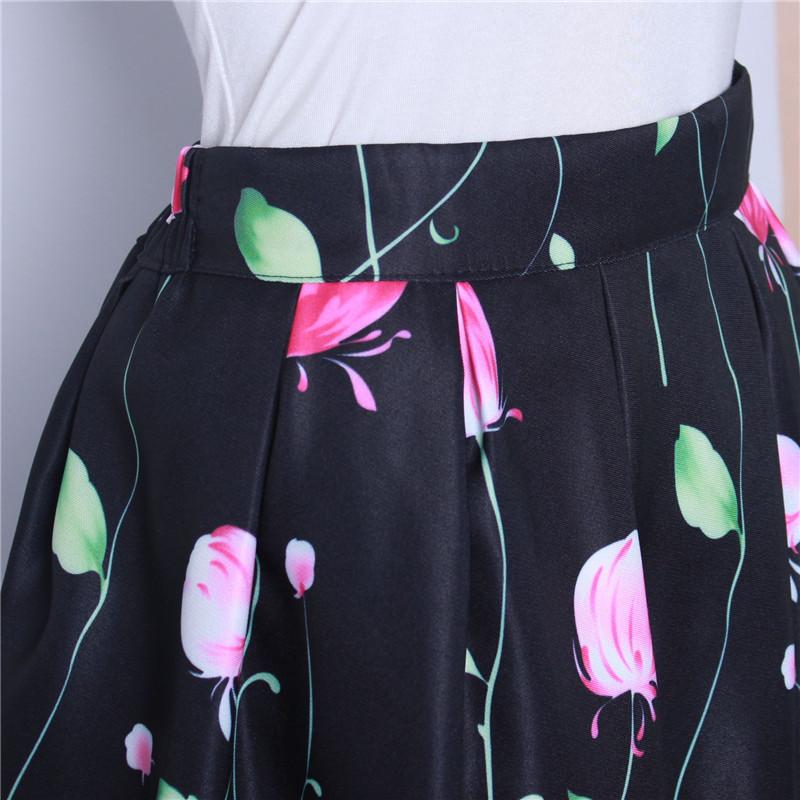 HTB1W h6QFXXXXb2aXXXq6xXFXXXy - GOKIC 2017 Summer Women Vintage Retro Satin Floral Pleated Skirts Audrey Hepburn Style High Waist A-Line tutu Midi Skirt