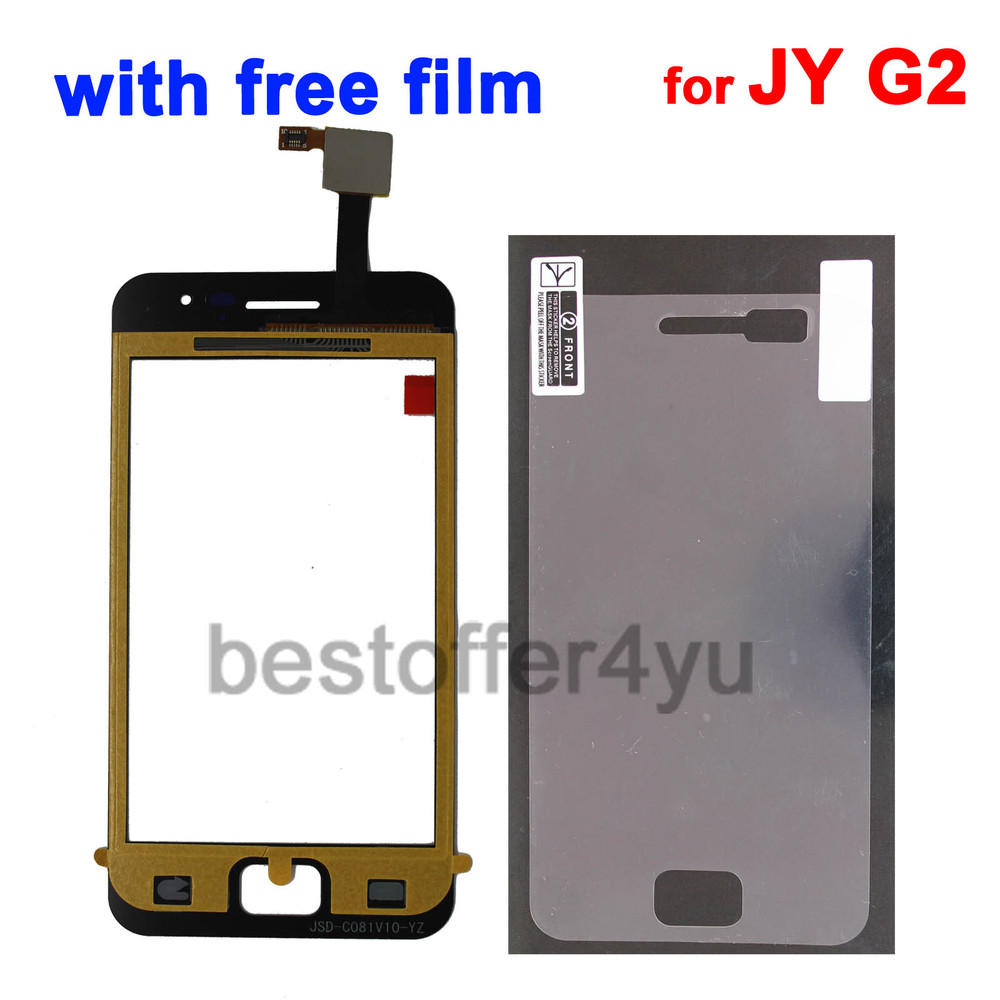 100% Original +Sticker+Film !!!   BLACK JY-G2 JIAYU G2 Touch Screen Digitizer Replacement for JIAYU G2 Touch Panel +tracking(China (Mainland))
