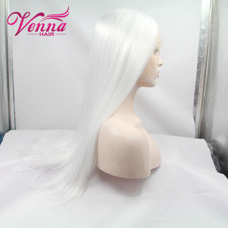 Cheap good quality ong straight women Pure white cosplay wigs 24synthetic white wigs with bangs for sale<br><br>Aliexpress