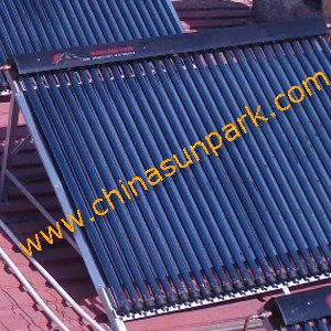 copper manifold 18 vacuum tubes solar collector(China (Mainland))