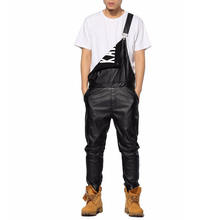 Justin Bieber Casual Pants Faux Leather Pant For Men Hip Hop Trousers Mens Baggy Cargo Joggers Streetwear Jumpsuit (China (Mainland))