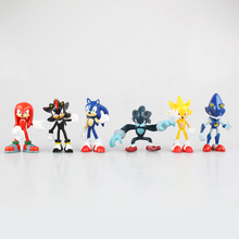 Buy 6pc/set Sonic Boom Rare Dr Eggman Shadow Hedgehog Knuckles Tails Amy Super metal Sonic 6-7cm Pvc Action Figure Toys for $10.69 in AliExpress store