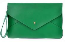 Корейский стиль ретро конверт дамы клатч конфеты цвет большой клатч важно портативные сумки женщины плеча кожи сумка