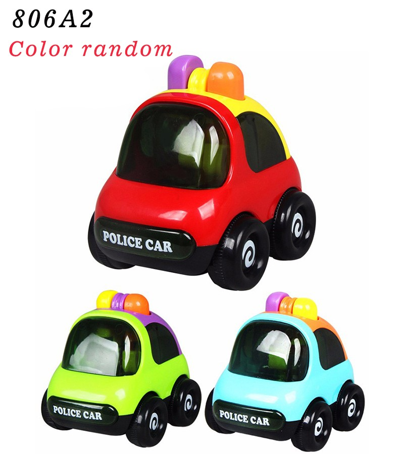 Baby Toys Push Back and Go Mini Car Friction Powered, Sports Car, Police car ,Truck,Smile face truck, Educational Toys for Kids