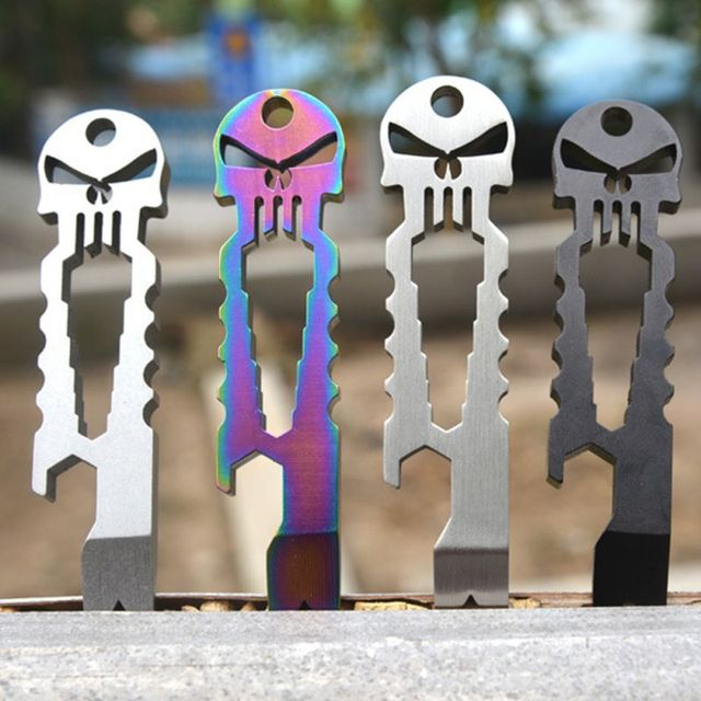 EDC Skull Multifunction Tool Key Chain
