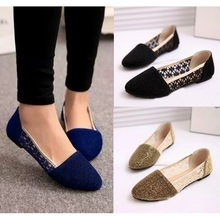 """""""Hot Sales Womens Flats Faux Suede Hollow Womens Casual Shoes Slip On Comfort Ladies Outdoor Shoes Wholesales """"(China (Mainland))"""