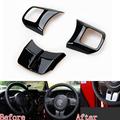 3PCS Lot ABS Black Steering Wheel Trim Sticker Sequins Trim For Jeep Wrangler 2011 2015 For