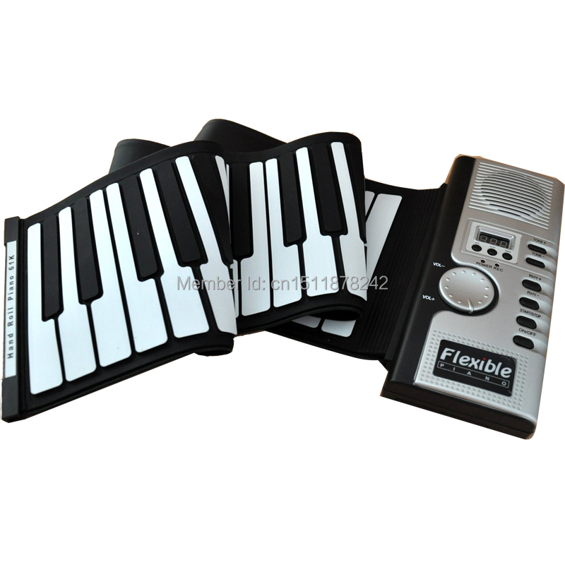 Top selling 49 Keys Roll Up Electronic Flexible Foldable Keyboard piano +Free Shipping(China (Mainland))
