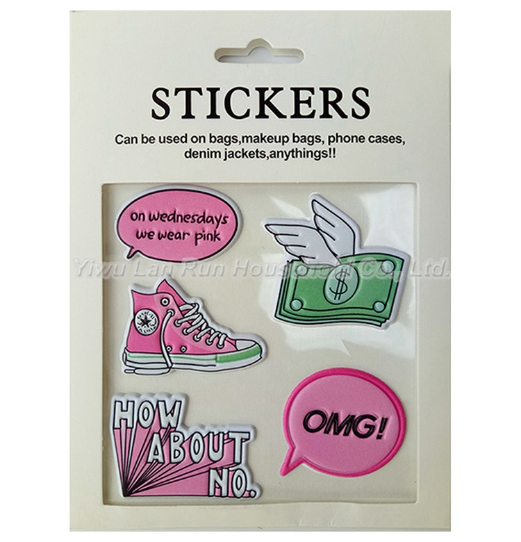Sexy Red Lip DIY Bag Decoration Stickers Pu Patch Stickers For Bags Makeup Bags Phone Cases Denim Jackets etc. Wall Stickers