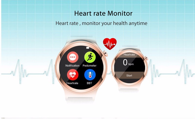 S3 Bluetooth Smart Watch Wrist Tracker Support SIM Card with Heart Rate Monitor for Ios Android Smartphone