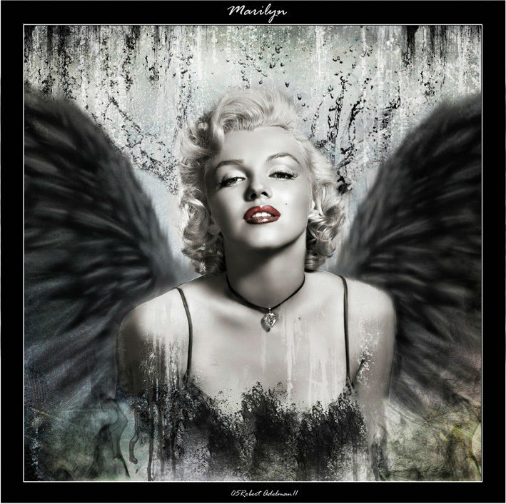 P003 sexy marilyn monroe printed oil painting on canvas