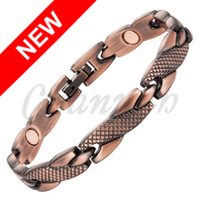 2016 Ladies Antiuqe Copper Magnetic Bracelet Jewellery Gift Snake Skin Bio Women Healing Bangle Free Shipping via Hong Kong Post(China (Mainland))